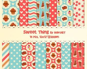 Cupcake Digital Paper Pack
