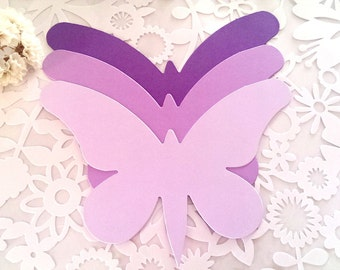 Large Butterfly die cut(A), Purple butterfly die cuts,Purple butterfly cutouts,Paper Butterfly,Wedding Butterfly,Lavender butterfly die cuts
