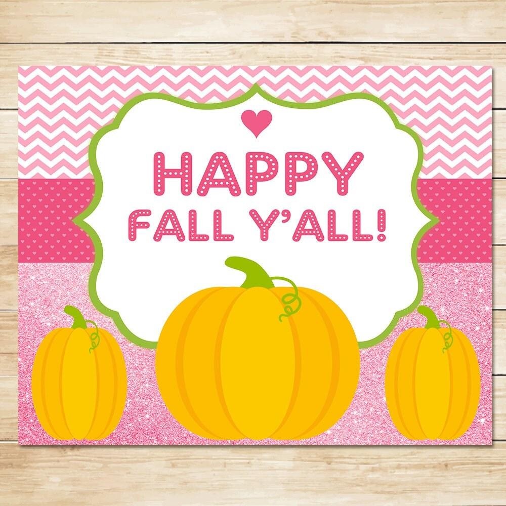 It is an image of Gargantuan Happy Fall Y'all Printable