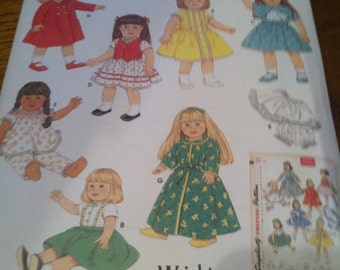 simplicity 4347 doll clothes pattern for 18 inch dolls by simplicity archives