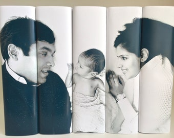 Personalized Photo Books, Decorative Books with Photo, Wedding Prop, White Books, Black Books, Custom Photo Book Set, Housewarming Gift