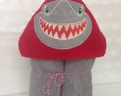 Hooded Towel for Fun in the bath, shark hooded towel, hooded towel baby, hooded towel kids
