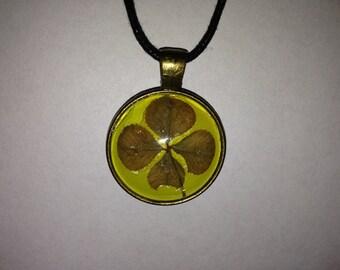 Lucky 4 Leaf Clover Charm Necklace