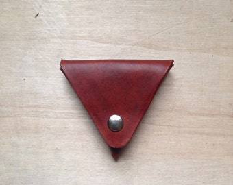 Triangle Coin Pouch (Tan)