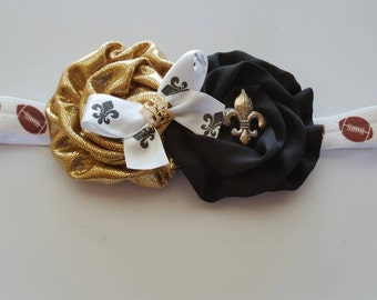 New Orleans Saints inspired headband