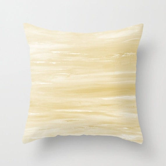 Pale Yellow Throw Pillow Cover : Pale Yellow Pillow Pastel Pillows Beige by DesignbyJuliaBars
