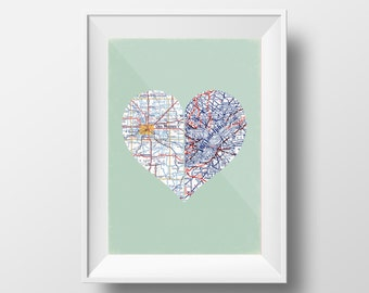 Personalized Wedding Map   Long Distance Gift   Unique Wedding Gift  Personalized Wedding Gift   Custom Wedding Gift   Custom Wedding Map