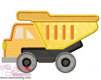 Construction Truck-1 Applique Design.
