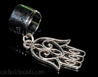 Silver Hamsa hand ear cuff