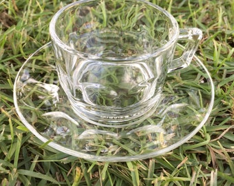 Arcoroc clear cappuccino cups  set of three  ReFabulousReVamped  ReFabulous
