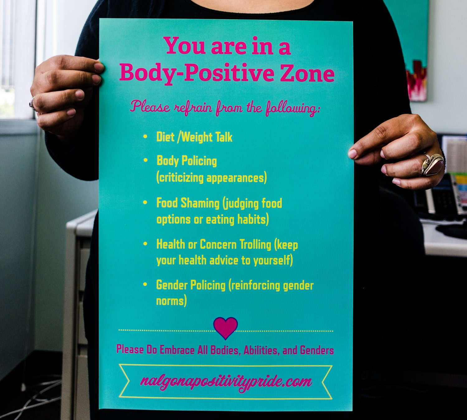 Poster Weights Etsy: Body Positive Poster 11x17