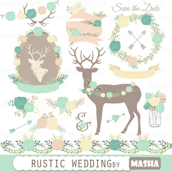 Wedding Clipart RUSTIC WEDDING CLIPART With