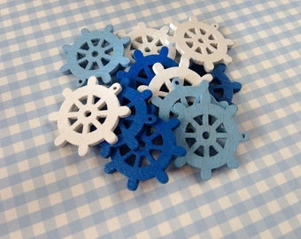 Ship wheel buttons pack of 10