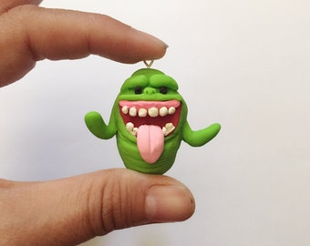 Ghostbusters Slimer Polymer Clay Charm