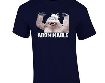 Abominable Snowman T Shirt Rudolph Holiday Christmas Tee