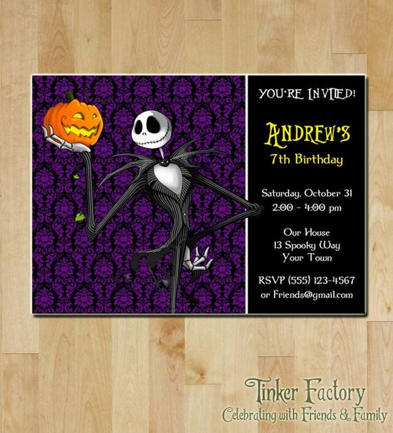 Nightmare Before Christmas Birthday Party: The Nightmare Before Christmas Birthday Party By TinkerFactory