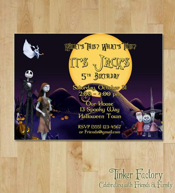 The Nightmare Before Christmas Birthday Party Invitation