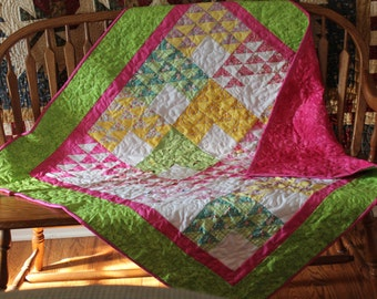 Baby Girl Flying Geese Quilt