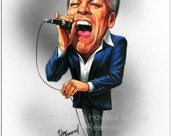 Don Howard's Depiction of Robert Palmer Celebrity Caricature