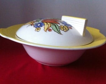 REDUCED PRICE! Art Deco Limoge Coverd Dish