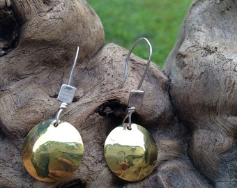 Brass and silver dangles