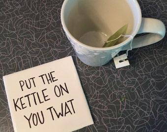 Coffe or tea coasters . Set of two.