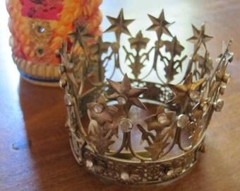 Antique Jeweled Crown Tiara - Santo Corona (Medium)
