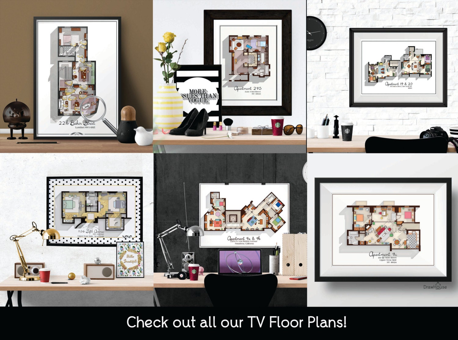 New Girl TV Show Apartment Floor Plan New Girl TV By DrawHouse