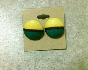 Kenti Fabric Stud Earrings
