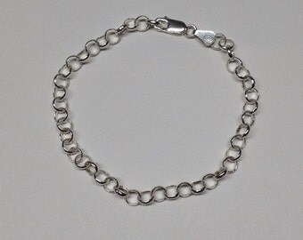 ROUND SILVER BRACELET 925 Silver Chain Bracelet: round shape. Made in Italy.