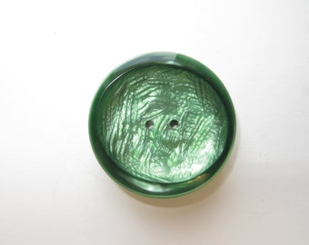 1950's Vintage Big Pearlescent Brushed Moonglow French Couture Coat Button-40mm