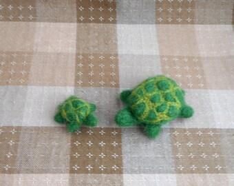 Miniature Needle Felt Turtles - Waldorf inspired