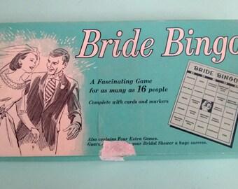 Vintage 1950s Bride Bingo Free Shipping