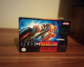 SNES Alien vs Predator- Replacement Box and Insert No Game Included