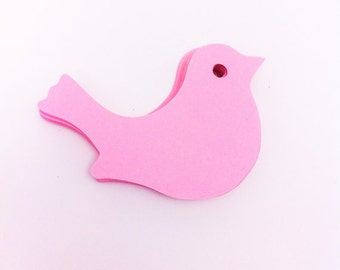 Pink Bird Die Cuts - Diy Garland - Confetti - Party Supplies - Table Decorations - scrapbooking