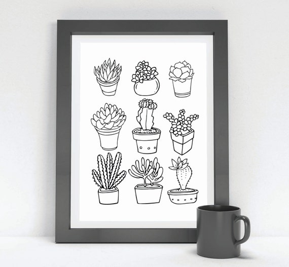 Hipster Wall Decor Tumblr : Printable succulent hipster wall art funny humor gift dorm