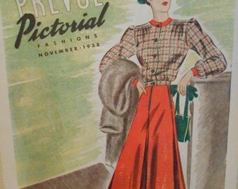 1938 Prevue Pictorial Fashions Pattern Booklet