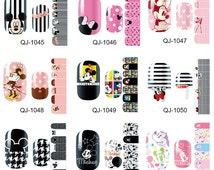 Mickey Mouse pattern one set of Full Nail polish strips wraps sticker