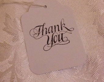 Hand Stamped Thank You Tags - Wedding or Event Bonbonniere Gift Tags