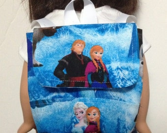 American Made Doll backpack 18 inch doll backpack doll book bag 18 inch doll clothing Frozen Backpack for dolls