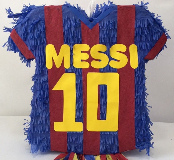messi 10 personalized soccer jersey pinata. Black Bedroom Furniture Sets. Home Design Ideas
