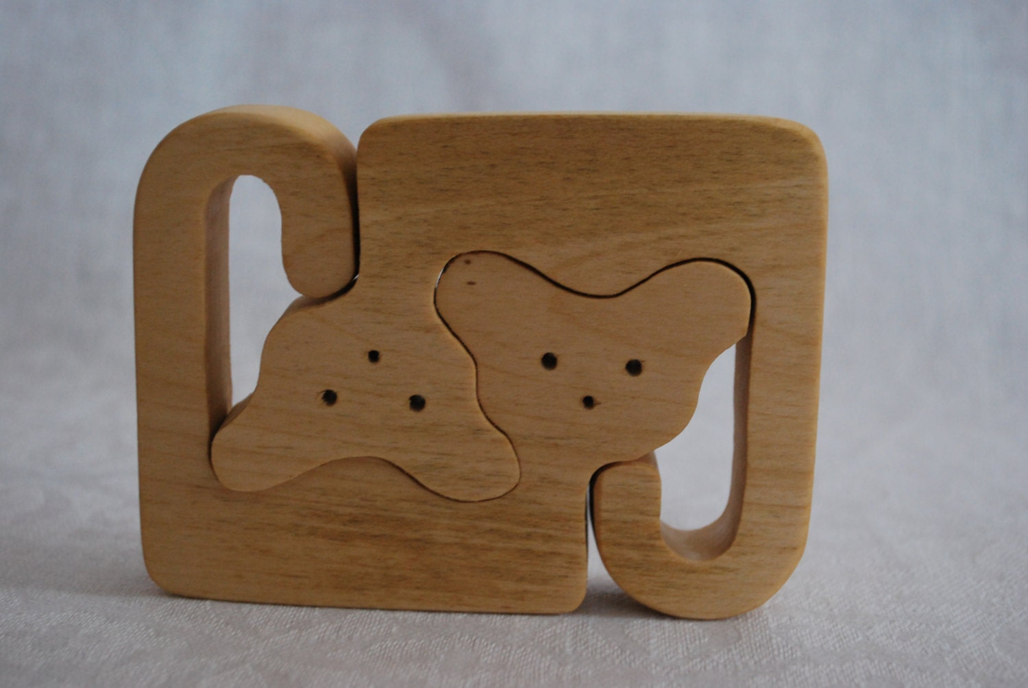 Wood Puzzle Wooden Puzzle Wooden Cat Puzzle Cats Family
