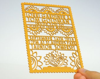 Bollywood laser cut wedding invitation and RSVP set