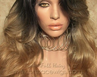 Dark root blonde mix lace front wig Naughtygirl ombre blonde lace wig lace front wig  Kardashian lace front wig drag queen lace wig