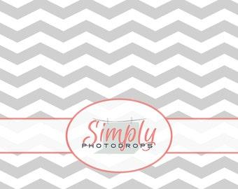 Vinyl Photography Backdrop, LIGHT GREY CHEVRON Photography Backdrop // SimplyPhotodrops Premium vinyl backdrop