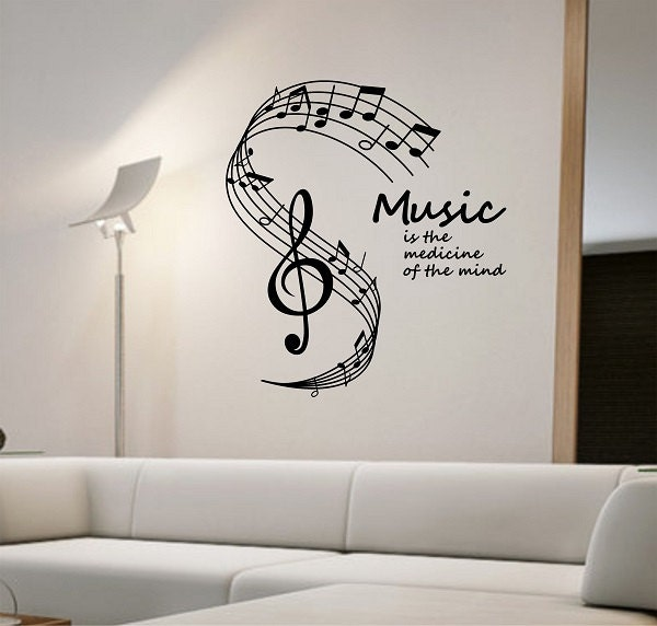 Music Notes Wall Decal Medicine Of The Mind Vinyl Sticker Art