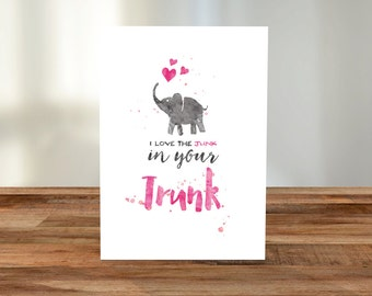 I love the junk in your trunk A5 Card