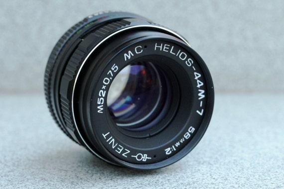 MC Helios-44M-7 2/58 M42 (Copy CZJ Biotar 2/58) Lens Zenit Pentax Praktic N40