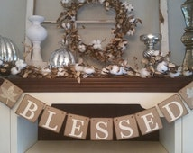 Blessed Banner, Thankful Garland, Thanksgiving Decor, Thanksgiving Decoration, Fall Decor, Fall Banners,