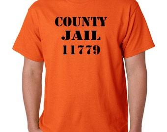 County Jail State Prison Halloween Costume Orange T-Shirt All Sizes (8066)